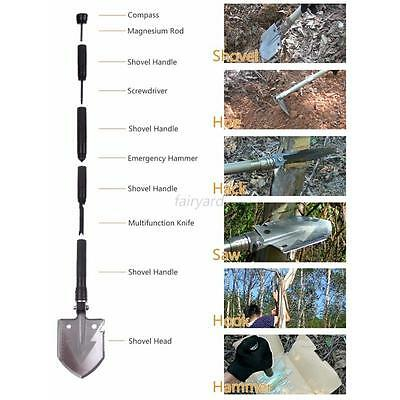 Military Tactical Multifunction Shovel Outdoor Camping Survival Fold Spade Tool