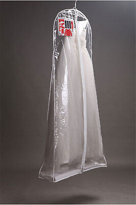 Clear Wedding Dress Cover Storage Bags Dustproof Large Bridal Gown Garment TP