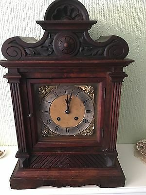 Magnificent  Very Large Walnut Cased German Time And Strike  Bracket Clock