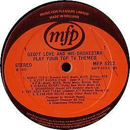 Geoff Love & His Orchestra - Your Top Tv Themes - MFP - 1972 #123476