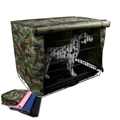 """Dog Crate Pet Cage Kennel COVER Quiet Time Breathable 23"""" Size Medium Camo"""