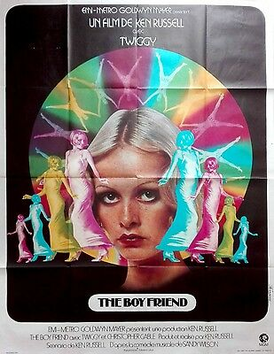 1972 THE BOY FRIEND Twiggy Ken Russell French 47x63 film poster