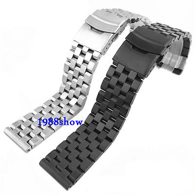 Neuf Solid 18 20 22 24 mm Stainless Steel Bracelets De Montres Acier Watch Band