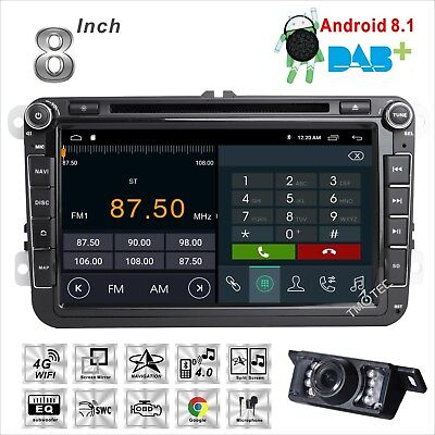 DAB Android In Car DVD SAT NAV GPS Radio Stereo For Volkswagen VW Golf Tiguan T5