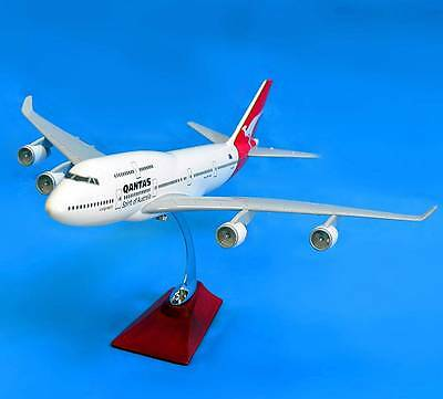 New QANTAS 1:150 Fibreglass Resin Boeing 747 Aircraft Plane Model 47cm Large