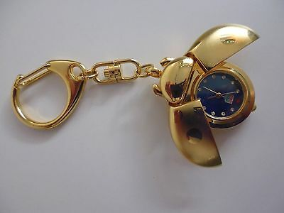 NEW: Keyring Quartz Watch with swarovski crystal number dial (XMAS gift)