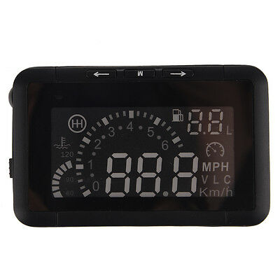 HUD Vehicle-mounted HeadUp Display System OBD Overspeed Warning Fuel Consumpt T8
