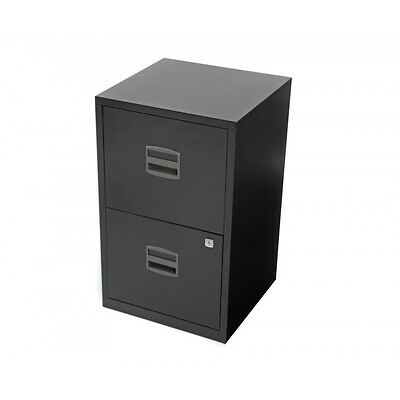 Metal Filing Cabinet 2 Drawer Home Office A4 Files Storage Lockable Unit Locker