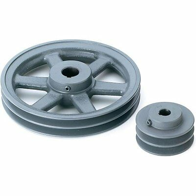 "Grizzly G6279 Double V-Groove Pulley - 8"" Pitch Dia., 3/4"" Bore"