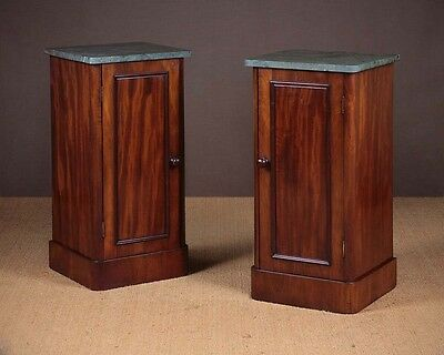 Antique Pair Late 19th.c. Mahogany Bedside Cabinets c.1890