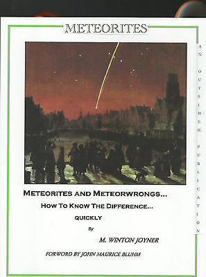 Meteorite Identification Paperback Book Meteorites And Meteorwrongs M W Joyner