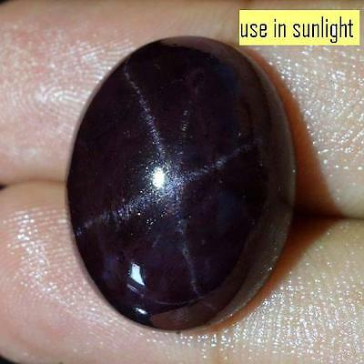 19.70 Cts 100% NATURAL ALMANDINE STAR GARNET LOOSE GEMSTONE CAB FOUR RAY A++