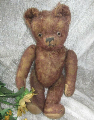 """♫ PELUCHE Vieil OURS """"LieDeVin"""" Teddy Bear Antique, COLLECTION d'OURS Anciens ♫"""