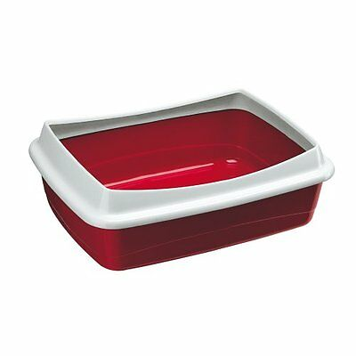 Ferplast Nip Plus 10 Cat Litter Tray, 47 x 36 x 15.5 cm, Burgundy