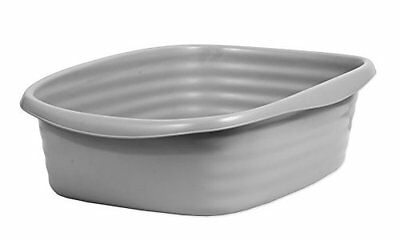 Petmate Stayfresh Cat Litter Tray Large Grey(Silver) Large