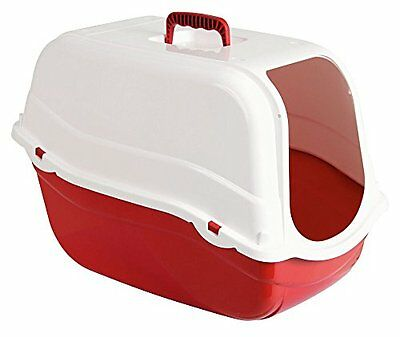 Kerbl Litter Box Kira, 57 x 39 x 41 cm, White/ Bordeaux
