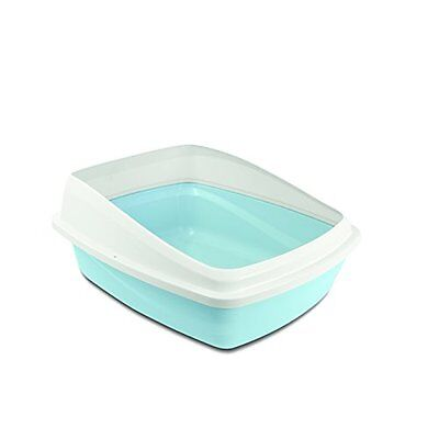 Cat Love Rimmed Pan, Medium, Blue/White
