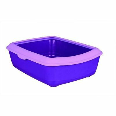 Trixie Classic Cat Litter Tray with Rim, 47 x 37 x 15 cm, Purple/Lilac