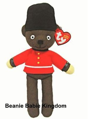 "TY Beanie Babie Mr Bean London Guardsman Teddy Bear 12"" Tall - 46205"