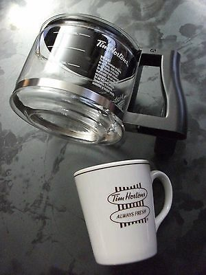 Vintage Tim Hortons Coffee Pot & Cup Very Rare English & French Made In England