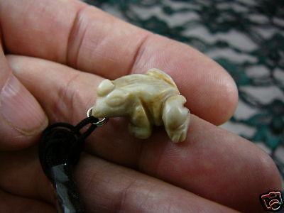 (an-frog-9) FROG MARBLE carving Pendant NECKLACE FIGURINE gem WOW