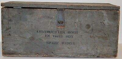 Vintage Wooden Spare Parts Box Military Industrial Tool Locker Chest