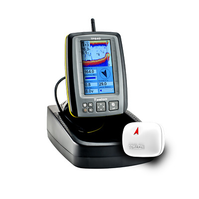 Toslon TF640 Colour Wireless Fish Finder with GPS. RC distance 300m, Depth 30m