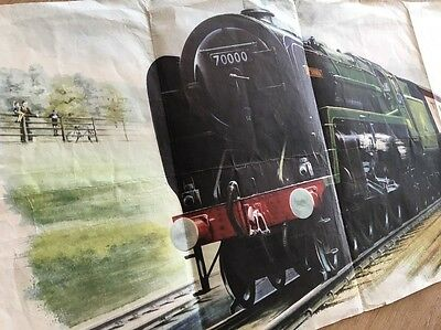 Original British Railways Stock Poster Arthur Wolstenholme Steam Train c1950s