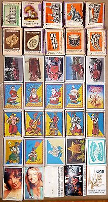 Interesting collection matchboxes with original matches 1977-2016s - 25 pcs