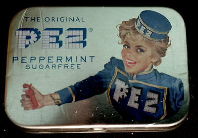 PEZ TIN  with Peppermint candies -NEW DESIGN
