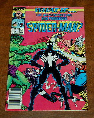 What if...? #4 (1989, Marvel) VF/VF+ The Alien Costume Had Possessed Spider-Man