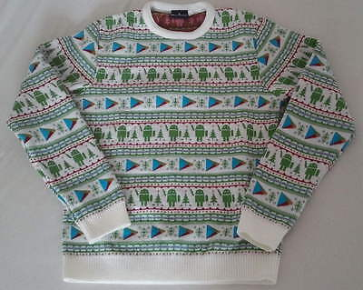 Google Android staff exclusive ugly christmas/holiday sweater jumper Size S - M
