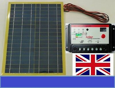 20w Light Weight Solar Panel + 10A 12v 24v Battery Charger Controller + 4m cable