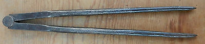 Primitve 18th - 19th Century Antique Hand Forged Wrought Iron Dividers $10 OFF!!