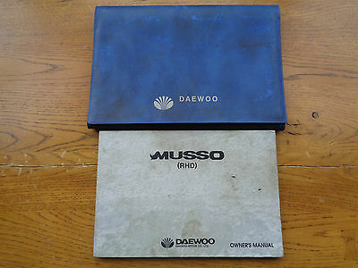 Daewoo Musso Owners Handbook/Manual and Wallet
