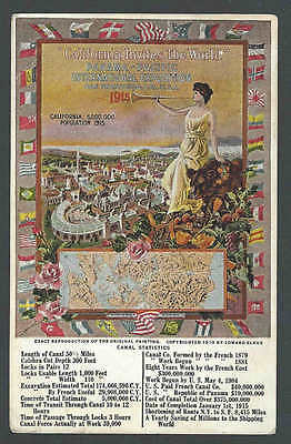 1915 Ppc* Panama Pacific Expo In San Fran Population Then 500,000 See Info