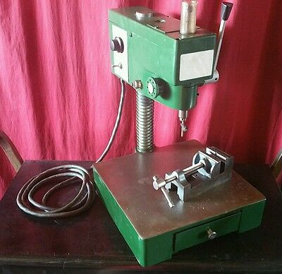 Dumore Small Drill Press, With Vice and Chuck