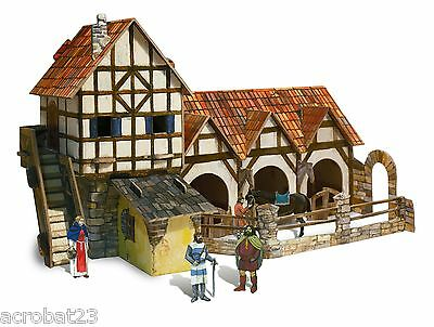 Building STABLE War Games Terrain Landscape Scenery Middle Ages 25-28 mm .