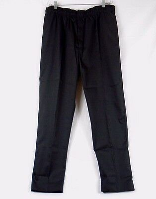 Neil Allyn Elastic Band Chef Pants Black Size X-Large 186D