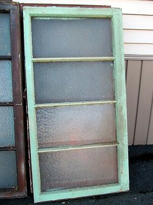 Antique Vintage Window Sash Florentine Privacy Glass Architectural Salvage Multi