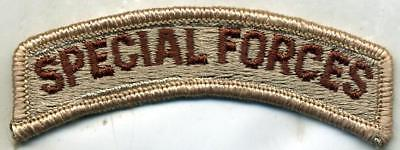 US Army SPECIAL FORCES DCU Desert Tan Patch Tab