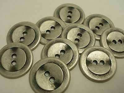 New Lots of Antique Silver Metal Buttons, 5/8 inch 13/16 7/8 & Blazer suit #S4