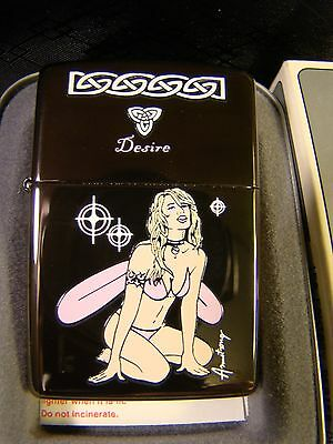NEW Zippo Fantasy Series Sexy Pin Up Fairy Lighter In Box Desire Armstrong
