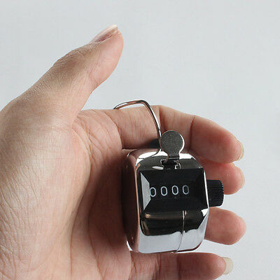 Mini Mechanical Hand Click Counter 4 Digit Counting Manual Stroke Click Counter