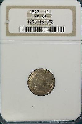 1892 NGC MS63 Barber Dime!!! #IM1