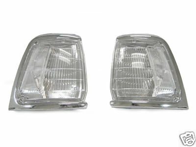 1989 1990-1991 Toyota Pickup Truck 2Wd Two Wheel Drive Clear Front Corner Lights