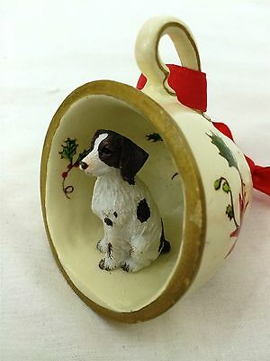Brittany Liver/White Tea Cup Christmas Ornament Holiday Dog Figurine