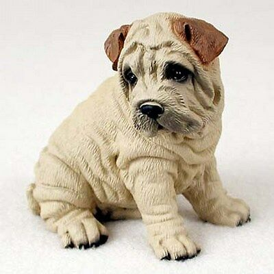 Shar Pei Dog Figurine Statue Replica Collectible Hand Painted DF40C