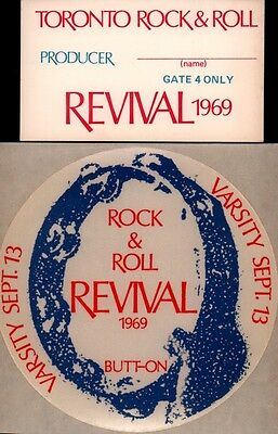 John Lennon / Doors 1969 Toronto Rock & Roll Revival Unused Pass, Patch, Poster