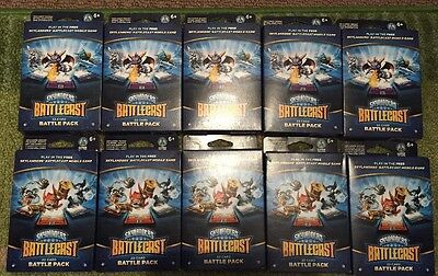10 X Skylanders Battlecast 22 card Battle pack - Spyro, Trigger Happy.   ALL NEW